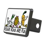Veggie Runs Rectangular Hitch Cover