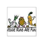 Veggie Runs Square Sticker 3