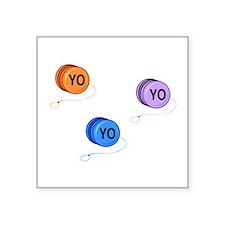 """Yo Yo Yo Square Sticker 3"""" x 3"""""""