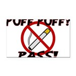 Puff Puff Pass Rectangle Car Magnet