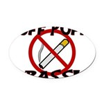 Puff Puff Pass Oval Car Magnet