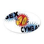 Sex Cymbal Oval Car Magnet