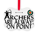 Archers On Point Picture Ornament