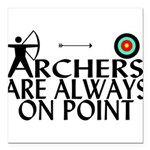 Archers On Point Square Car Magnet 3