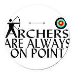 Archers On Point Round Car Magnet