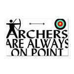 Archers On Point Rectangle Car Magnet