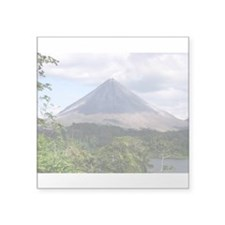 Costa Rica Arenal Rectangle Sticker