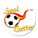 Goal Getter Round Car Magnet