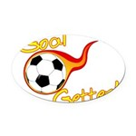 Goal Getter Oval Car Magnet