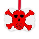 Peace Skull Picture Ornament