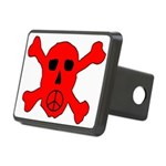 Peace Skull Rectangular Hitch Cover