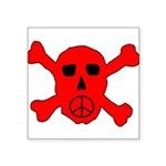 Peace Skull Square Sticker 3