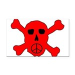 Peace Skull Rectangle Car Magnet