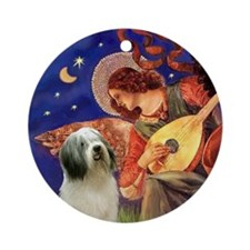 Mandolin Angel & PON Ornament (Round)
