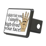 High Fived Face Rectangular Hitch Cover