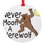Moon A Werewolf Round Ornament
