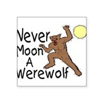 Moon A Werewolf Square Sticker 3