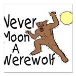 Moon A Werewolf Square Car Magnet 3