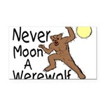 Moon A Werewolf Rectangle Car Magnet