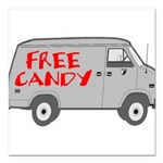 Free Candy Square Car Magnet 3