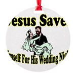 Jesus Saves Round Ornament