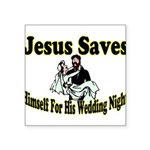 Jesus Saves Square Sticker 3