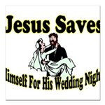 Jesus Saves Square Car Magnet 3