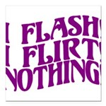 Flirty Flasher Square Car Magnet 3