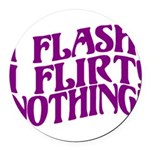 Flirty Flasher Round Car Magnet