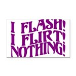 Flirty Flasher Rectangle Car Magnet