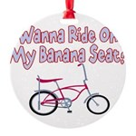 Banana Seat Round Ornament
