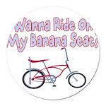Banana Seat Round Car Magnet