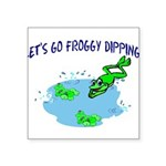Froggy Dipping Square Sticker 3