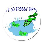 Froggy Dipping Round Car Magnet