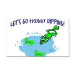 Froggy Dipping Rectangle Car Magnet