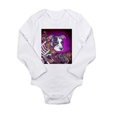 Dia los muertos dog, Pit bull Long Sleeve Infant B