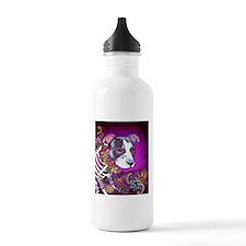 Dia los muertos dog, Pit bull Water Bottle