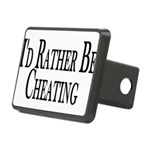 Rather Be Cheating Rectangular Hitch Cover