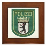 Berlin Police Framed Tile