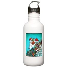 Dia Los muertos, day of the dead dog Water Bottle
