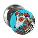"Dia Los muertos, day of the dead dog 2.25"" Button"
