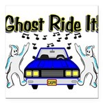Ghost Ride It Square Car Magnet 3