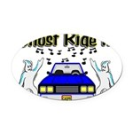 Ghost Ride It Oval Car Magnet