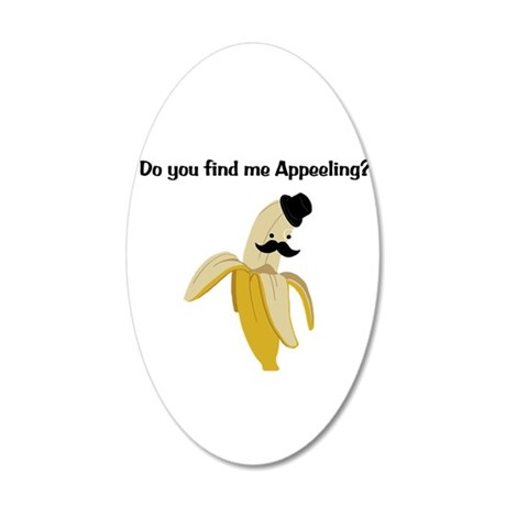 Appeeling 35x21 Oval Wall Decal