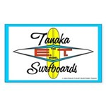 Tanaka ET Model Surfboards Rectangle Sticker