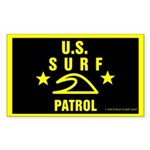 U.S. SURF PATROL Rectangle Sticker