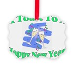 New Year's Toast Picture Ornament