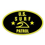U.S. SURF PATROL Oval Sticker