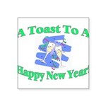 New Year's Toast Square Sticker 3