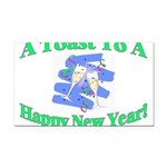 New Year's Toast Rectangle Car Magnet